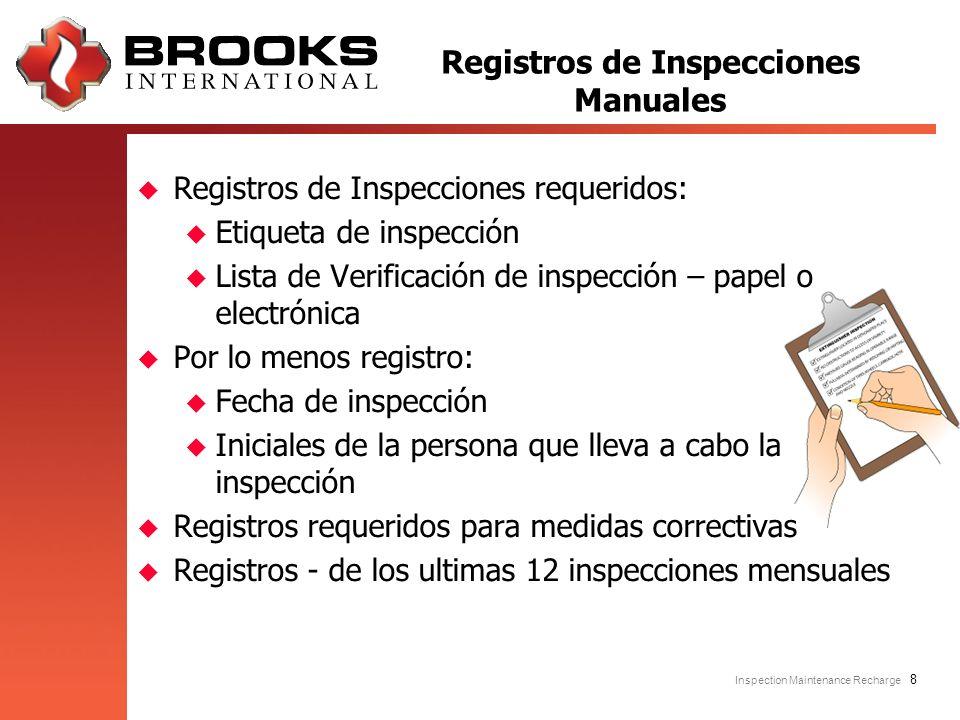 Registros de Inspecciones Manuales