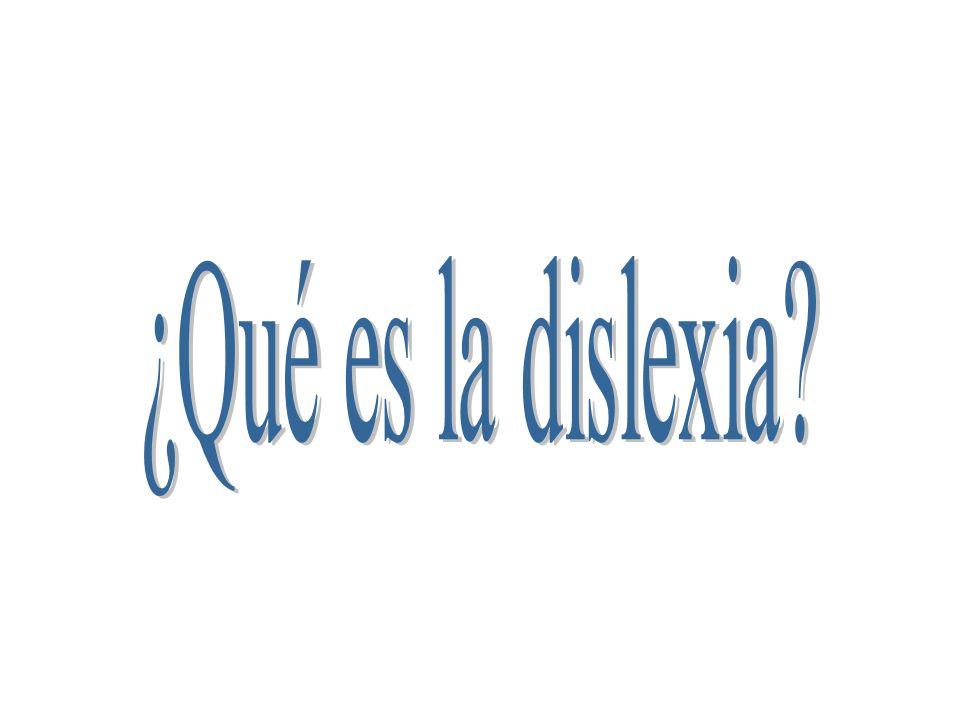 ¿Qué es la dislexia