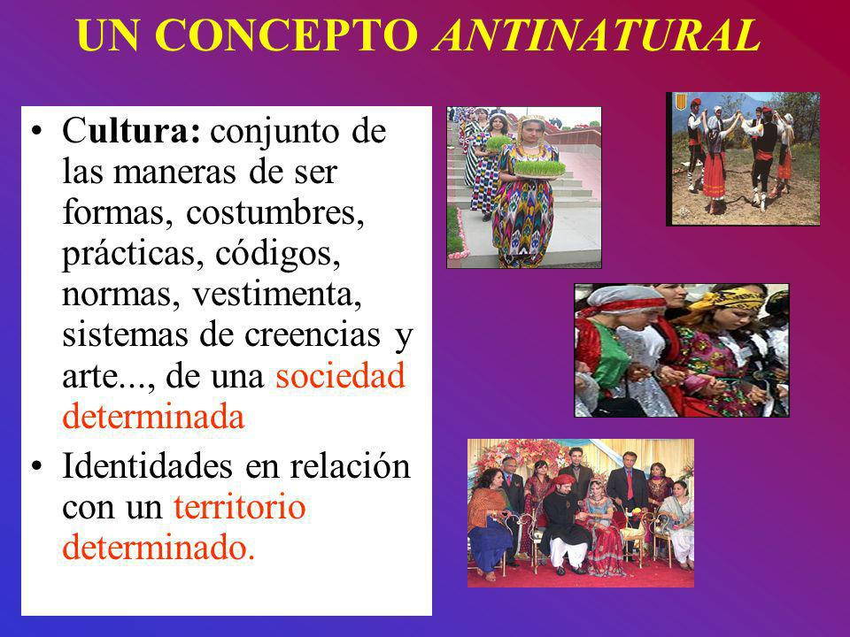 UN CONCEPTO ANTINATURAL