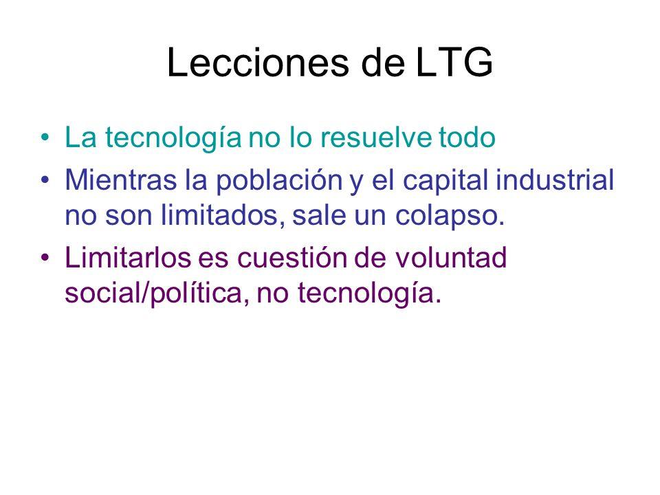 Lecciones de LTG La tecnología no lo resuelve todo