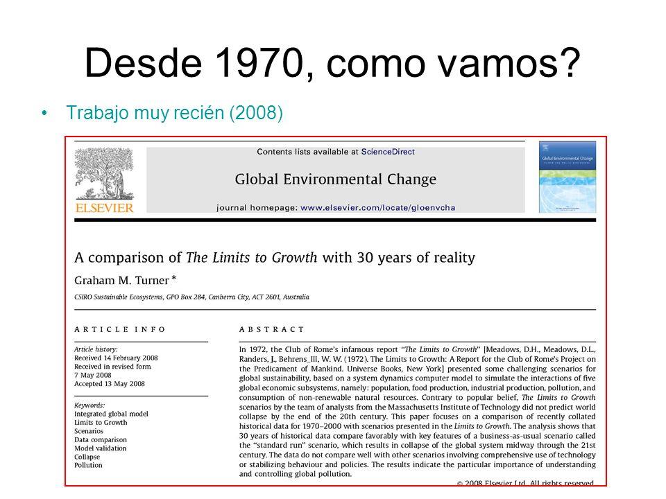 Desde 1970, como vamos Trabajo muy recién (2008)