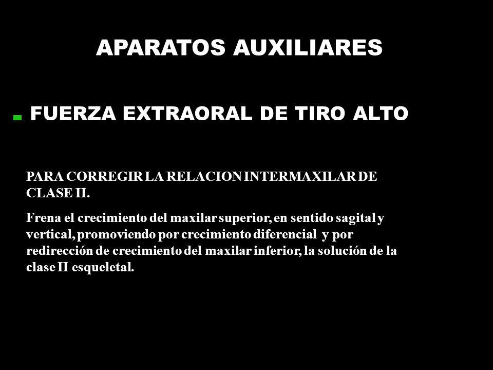 APARATOS AUXILIARES FUERZA EXTRAORAL DE TIRO ALTO