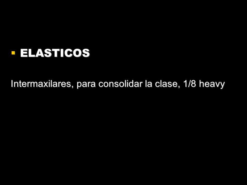 ELASTICOS Intermaxilares, para consolidar la clase, 1/8 heavy