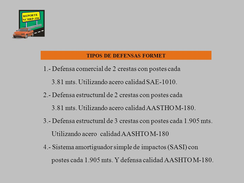 TIPOS DE DEFENSAS FORMET