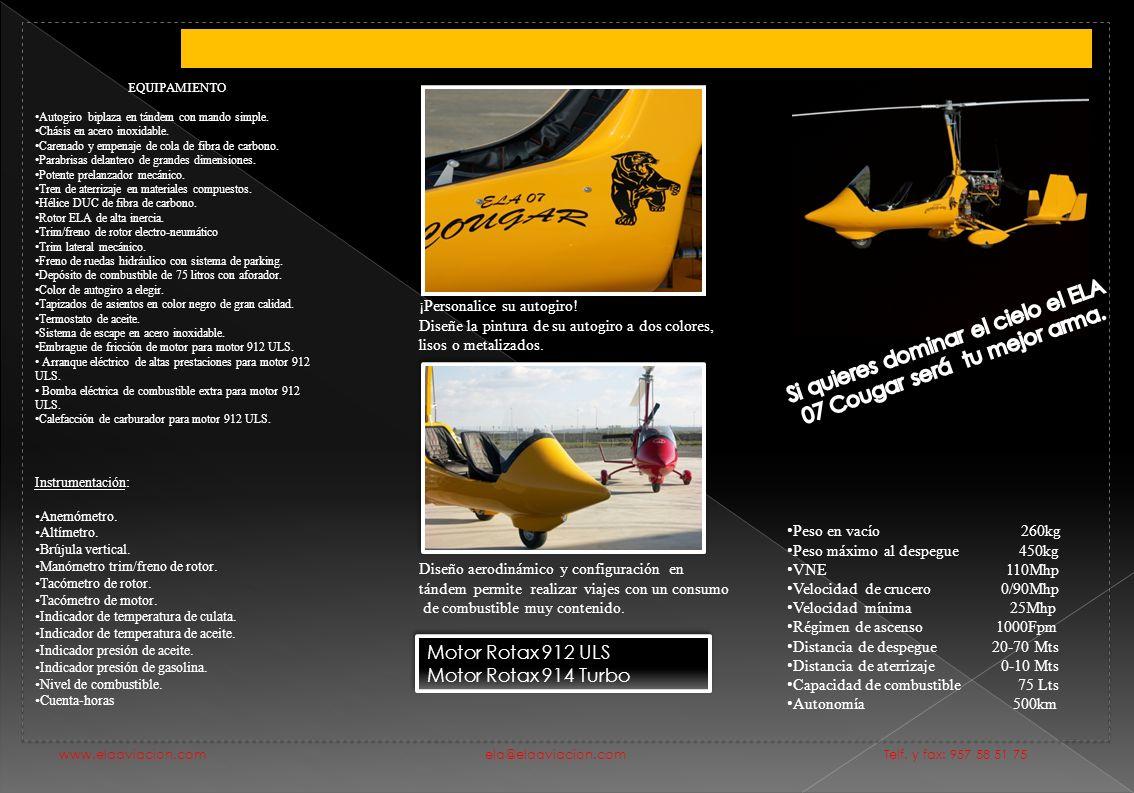 Si quieres dominar el cielo el ELA 07 Cougar será tu mejor arma.