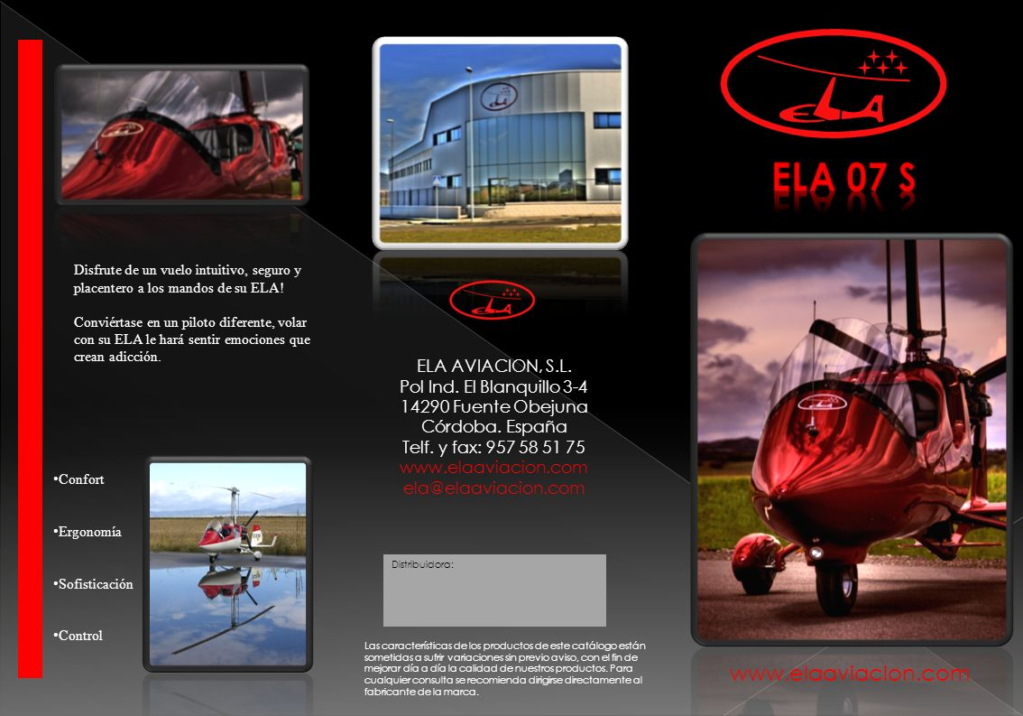ELA 07 S www.elaaviacion.com ELA AVIACION, S.L.