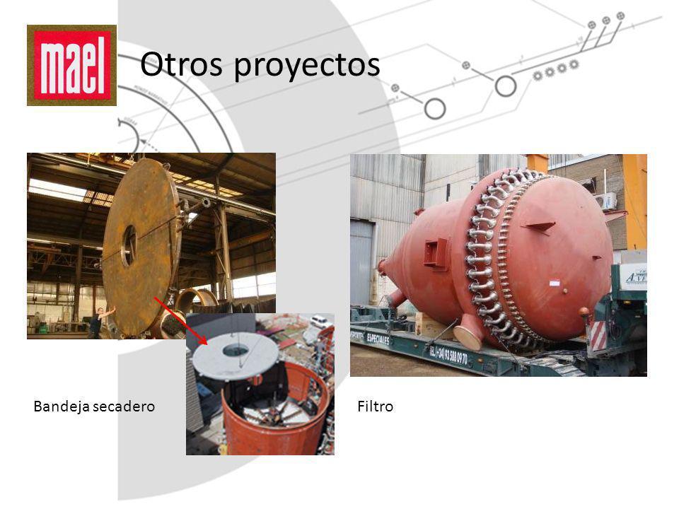 Otros proyectos Bandeja secadero Filtro