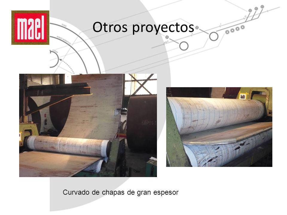 Otros proyectos Curvado de chapas de gran espesor