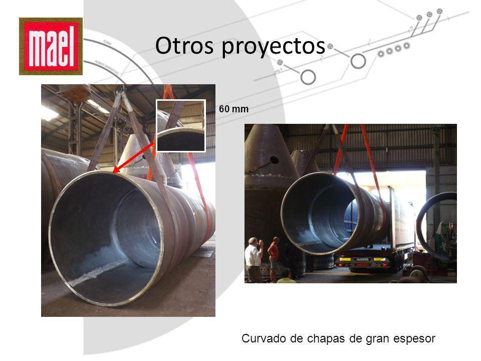Otros proyectos 60 mm Curvado de chapas de gran espesor