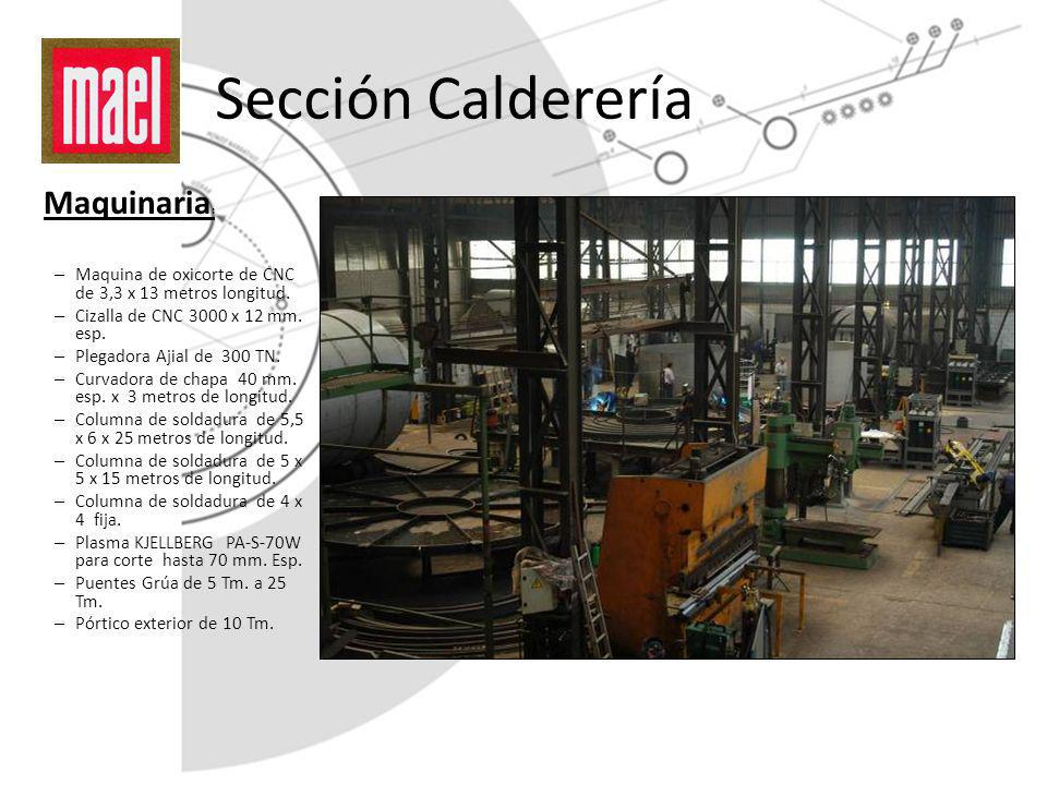 Sección Calderería Maquinaria: