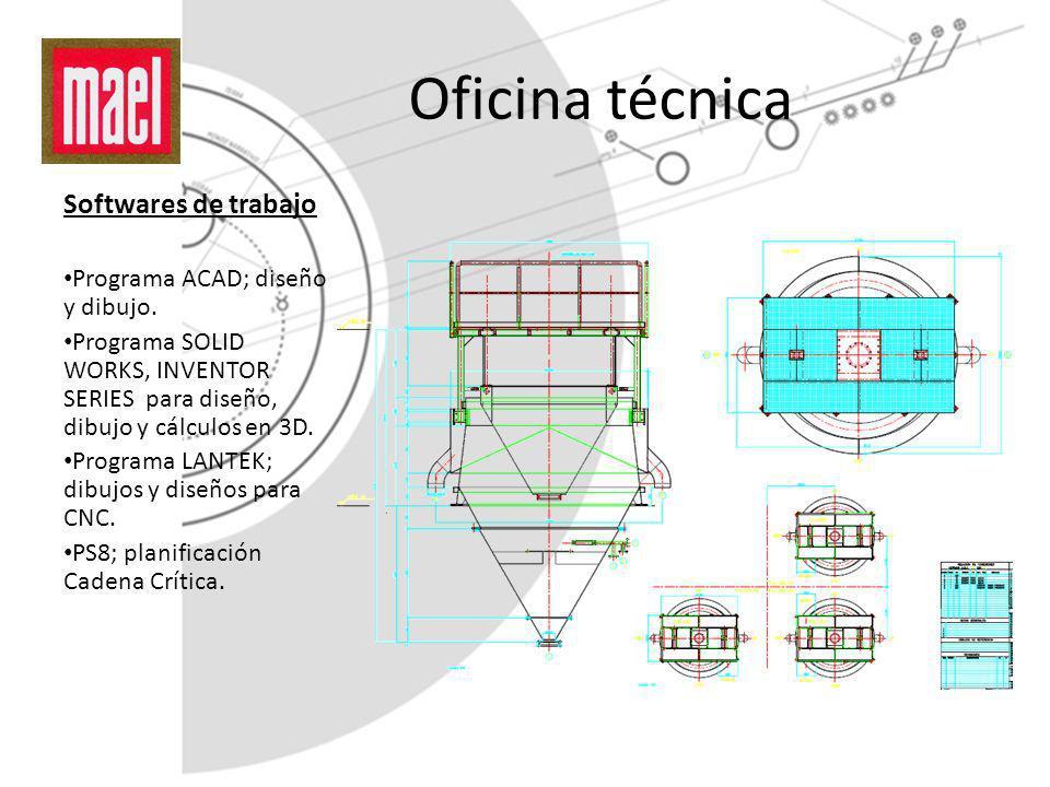 Oficina técnica Softwares de trabajo Programa ACAD; diseño y dibujo.
