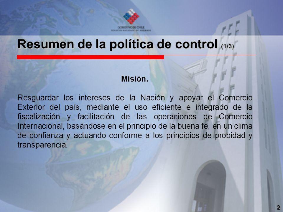 Resumen de la política de control (1/3)