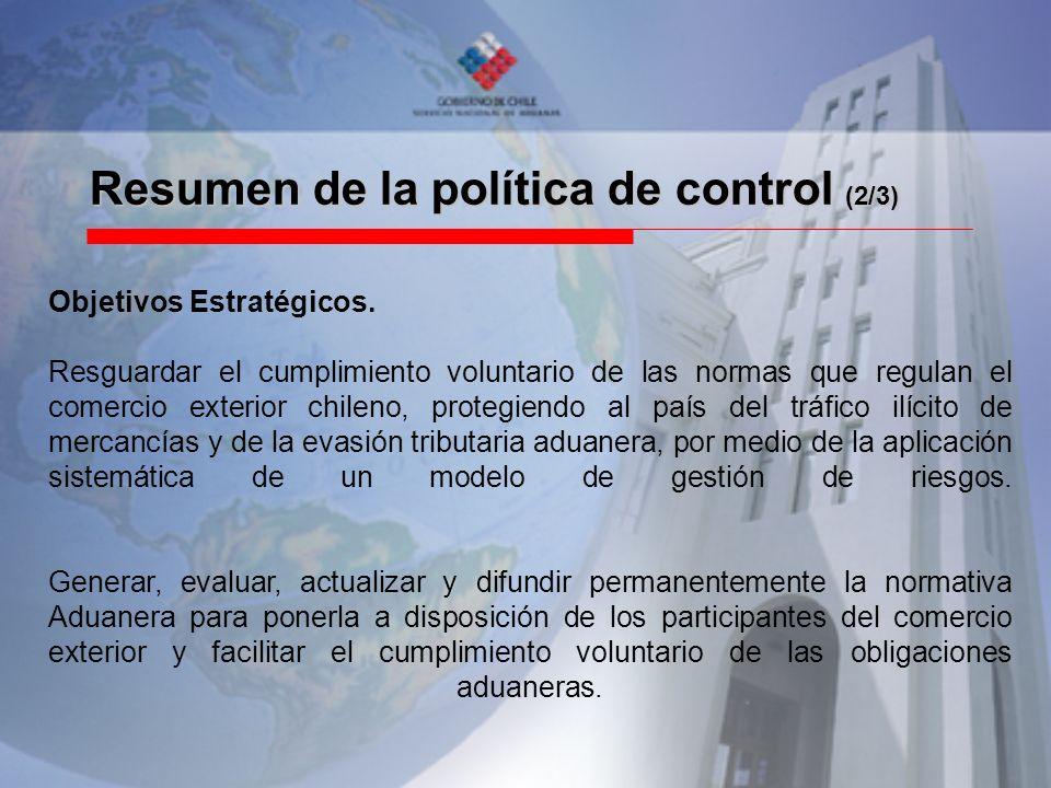 Resumen de la política de control (2/3)