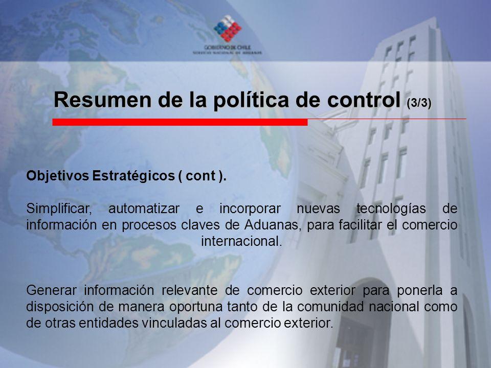 Resumen de la política de control (3/3)