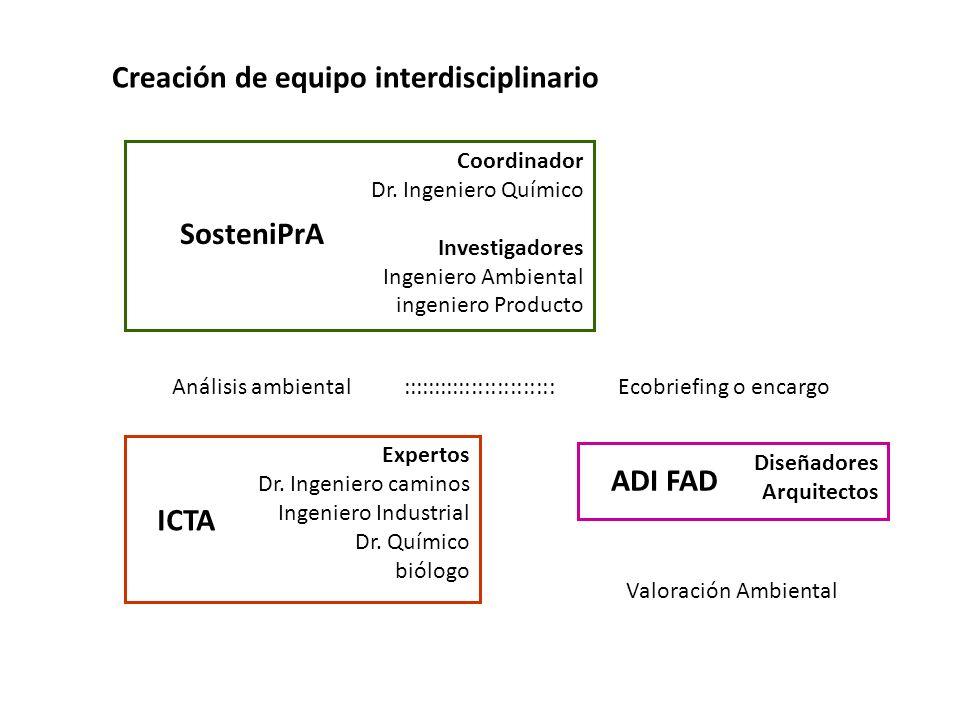 Creación de equipo interdisciplinario