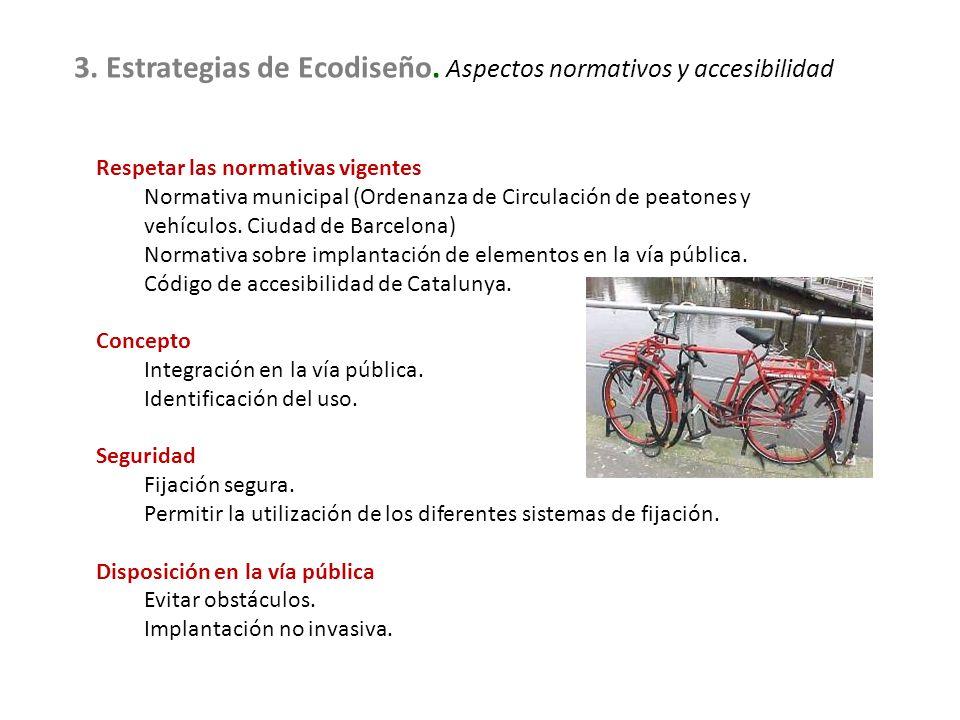 3. Estrategias de Ecodiseño. Aspectos normativos y accesibilidad