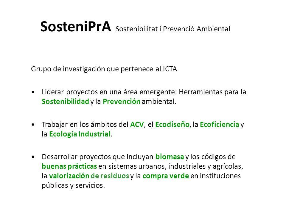 SosteniPrA Sostenibilitat i Prevenció Ambiental