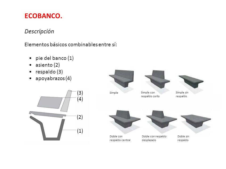 ECOBANCO. Descripción Elementos básicos combinables entre sí: