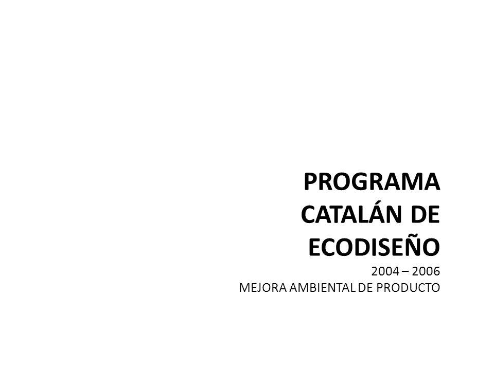 PROGRAMA CATALÁN DE ECODISEÑO