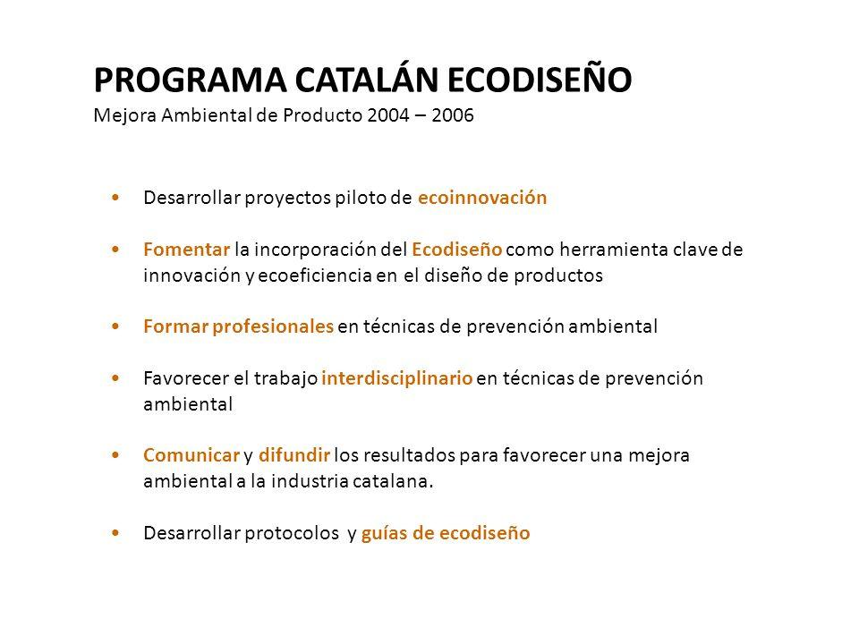 PROGRAMA CATALÁN ECODISEÑO