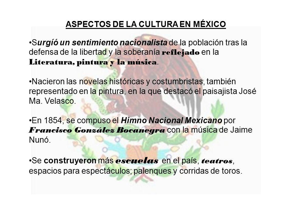 ASPECTOS DE LA CULTURA EN MÉXICO