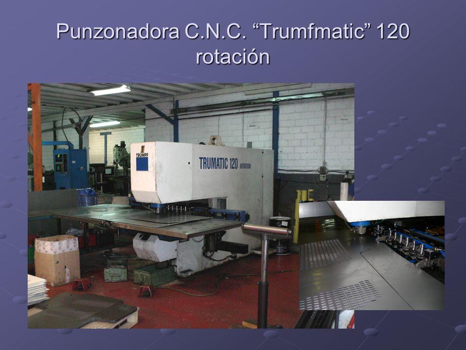 Punzonadora C.N.C. Trumfmatic 120 rotación