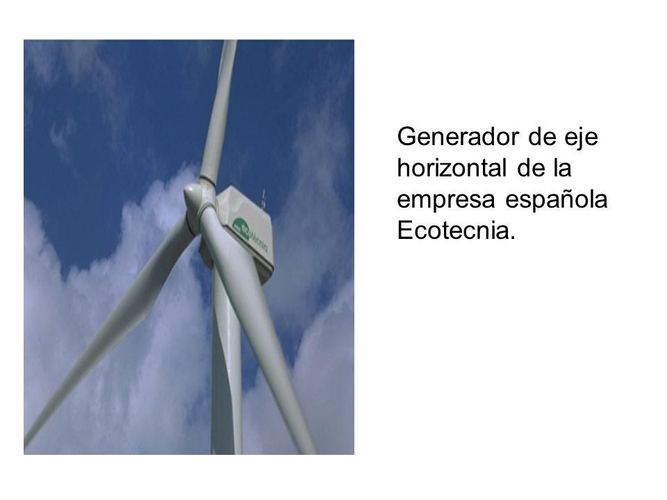 Generador de eje horizontal de la empresa española Ecotecnia.
