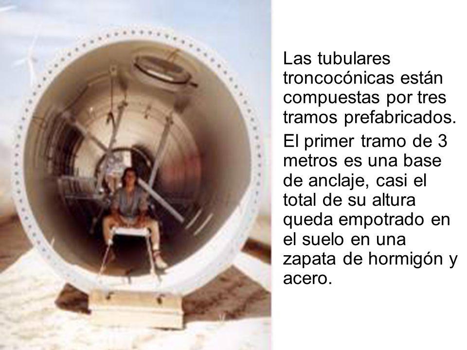 Las tubulares troncocónicas están compuestas por tres tramos prefabricados.