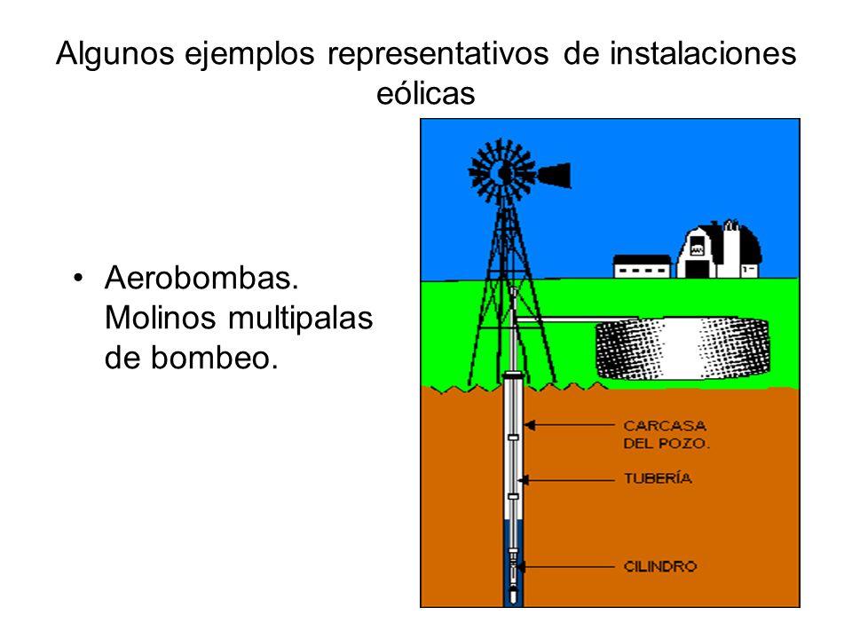Algunos ejemplos representativos de instalaciones eólicas