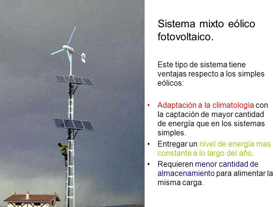 Sistema mixto eólico fotovoltaico.