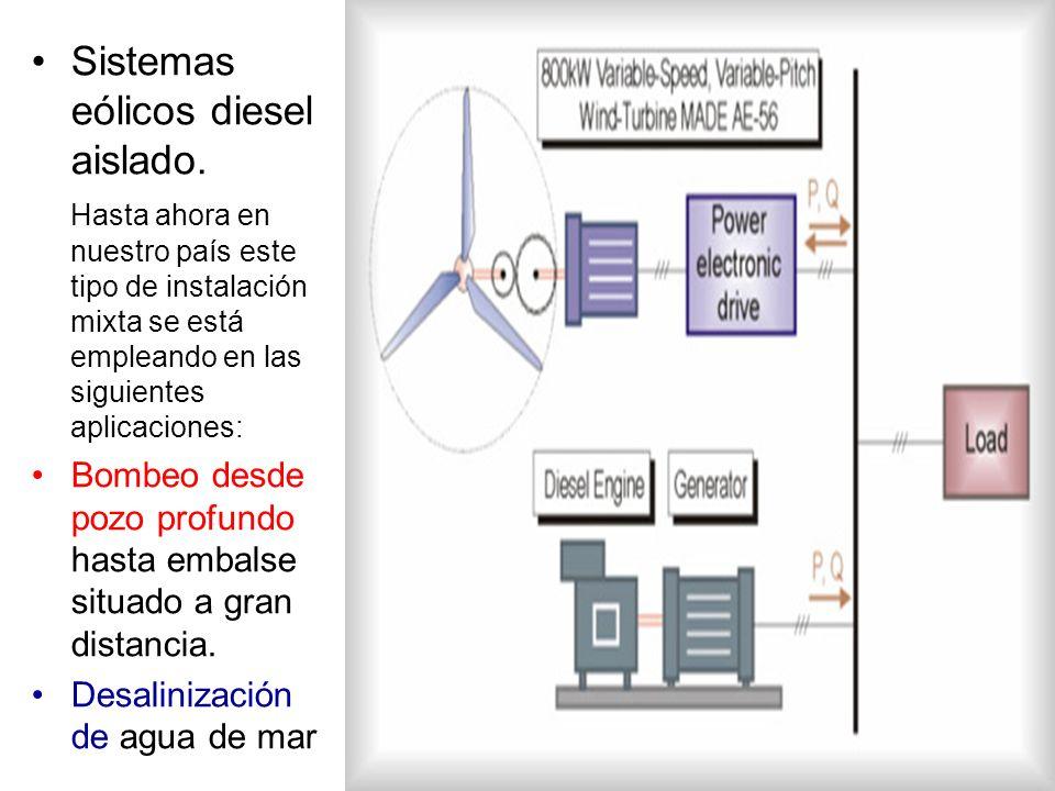 Sistemas eólicos diesel aislado.