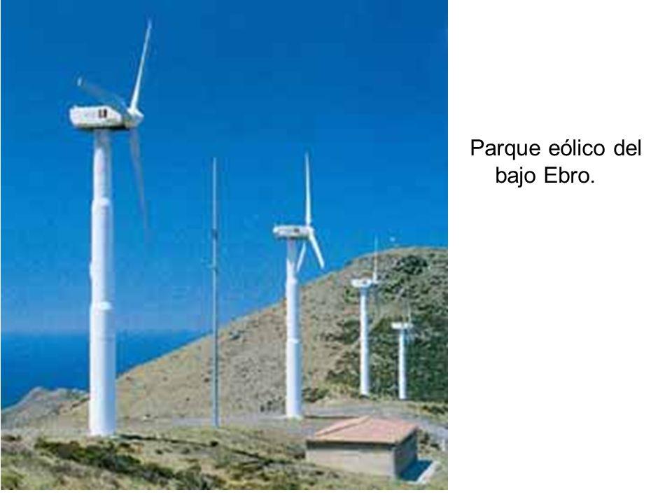 Parque eólico del bajo Ebro.