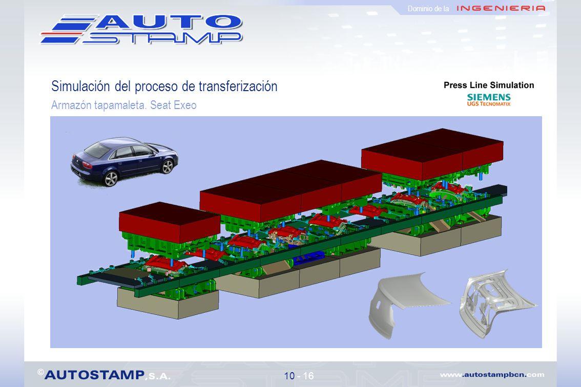 Simulación del proceso de transferización