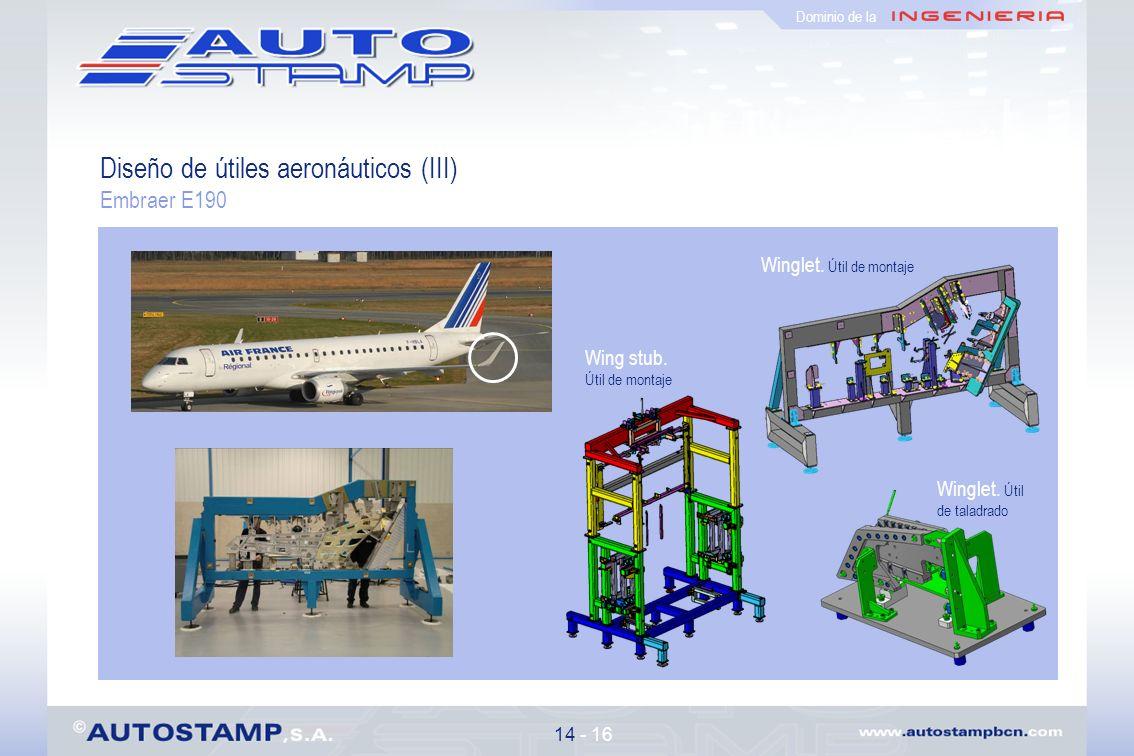 Diseño de útiles aeronáuticos (III)