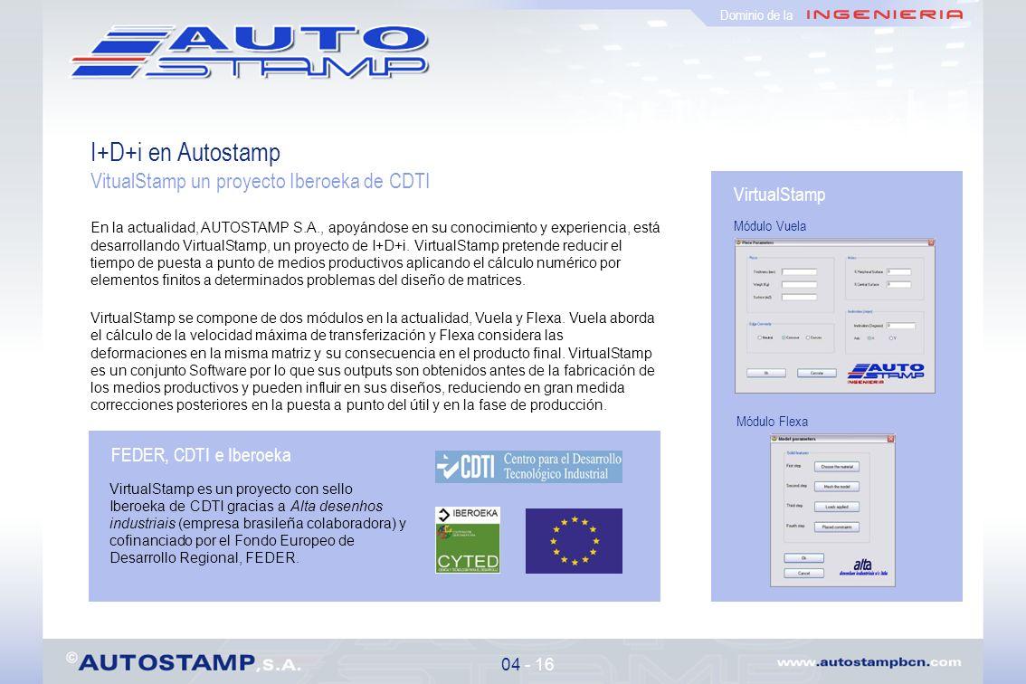 I+D+i en Autostamp VitualStamp un proyecto Iberoeka de CDTI