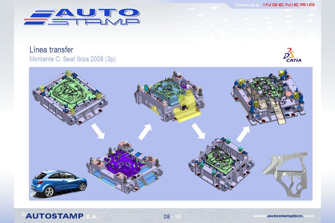 Dominio de la Línea transfer Montante C. Seat Ibiza 2008 (3p) 08 - 16