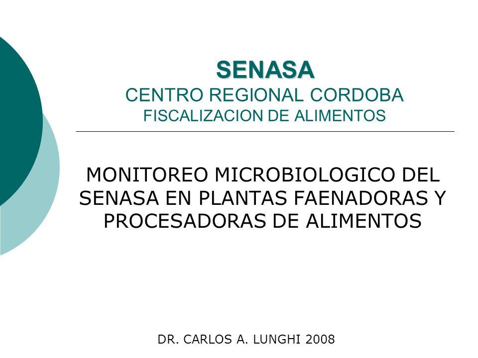 SENASA CENTRO REGIONAL CORDOBA FISCALIZACION DE ALIMENTOS