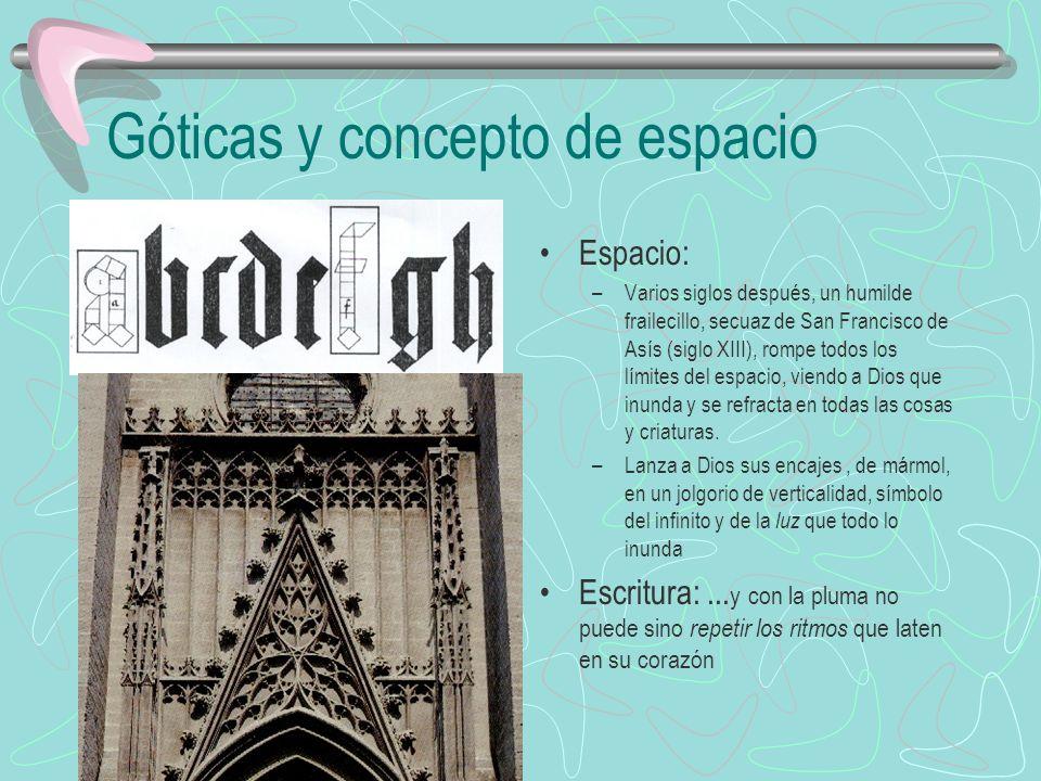 Góticas y concepto de espacio