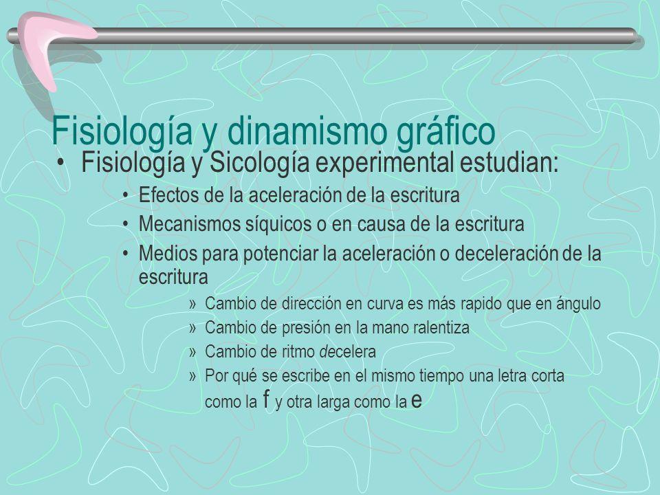 Fisiología y dinamismo gráfico