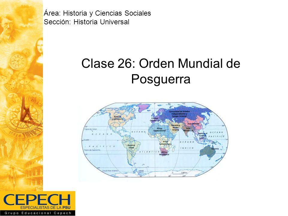 Clase 26: Orden Mundial de Posguerra