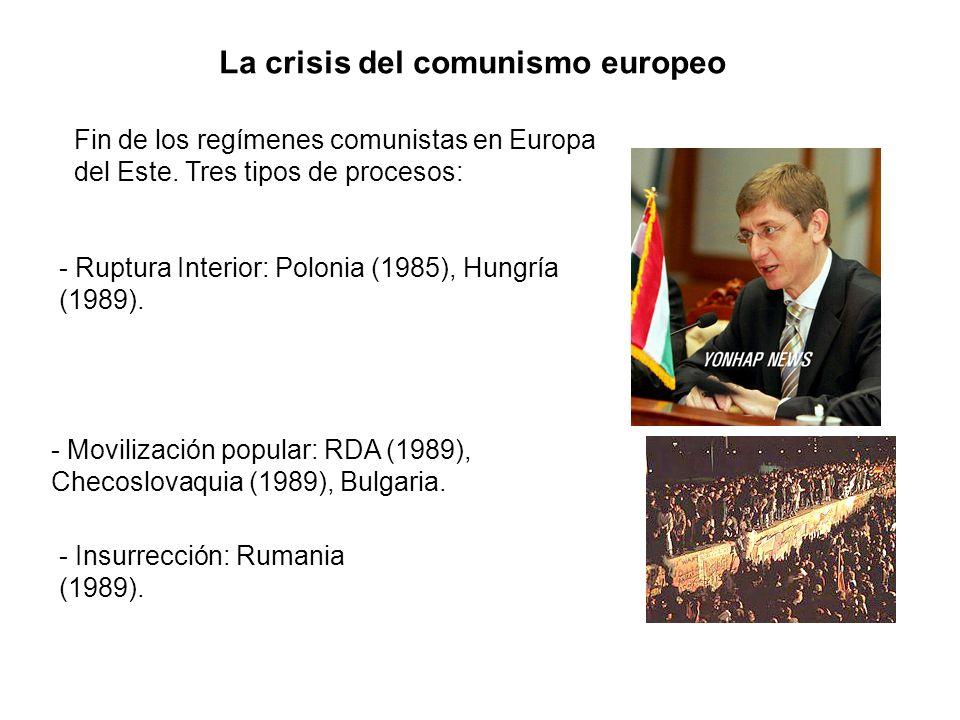 La crisis del comunismo europeo
