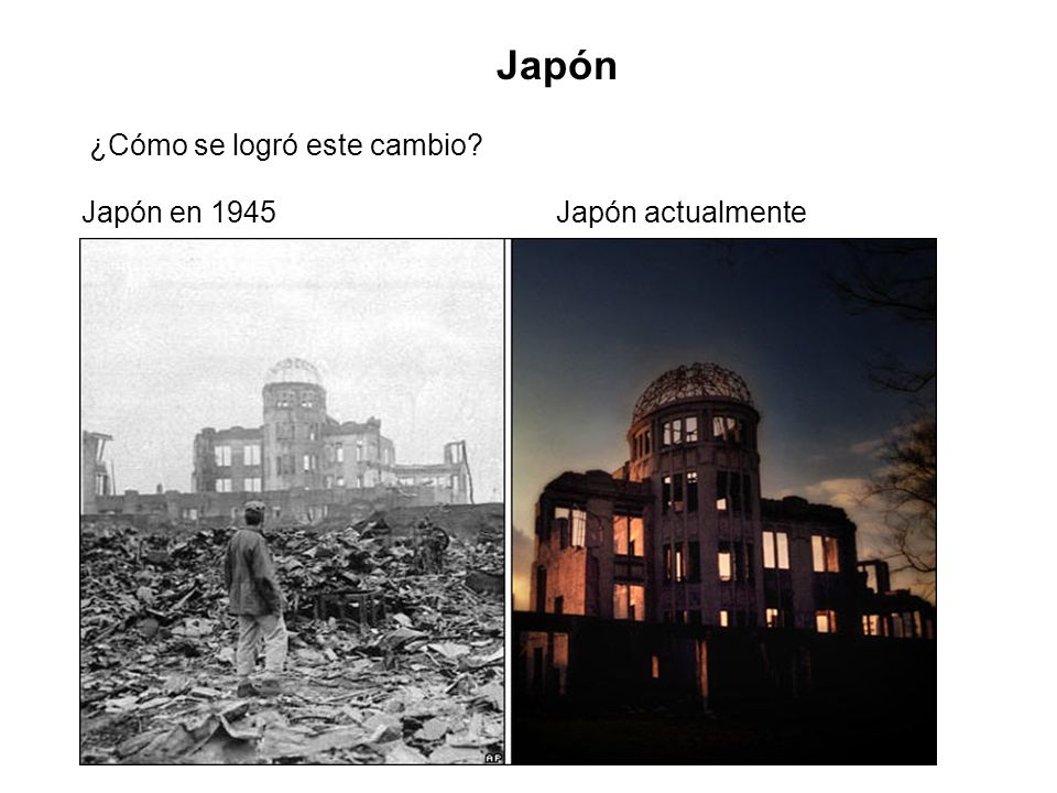 Japón ¿Cómo se logró este cambio Japón en 1945 Japón actualmente