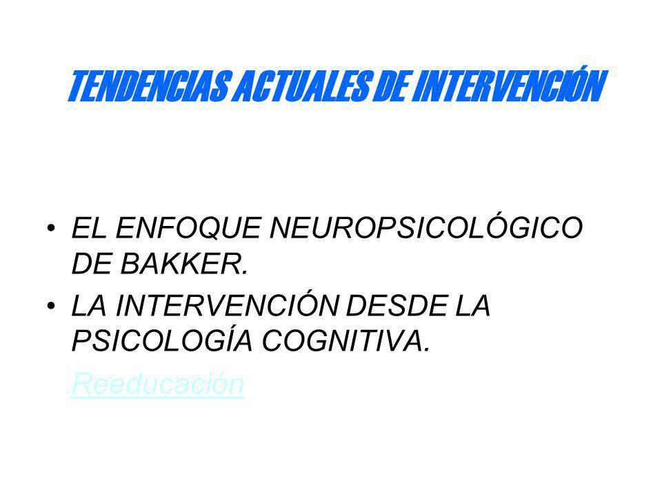 TENDENCIAS ACTUALES DE INTERVENCIÓN