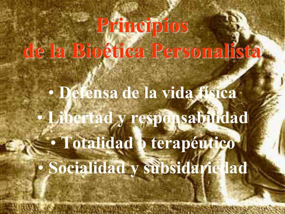 Principios de la Bioética Personalista