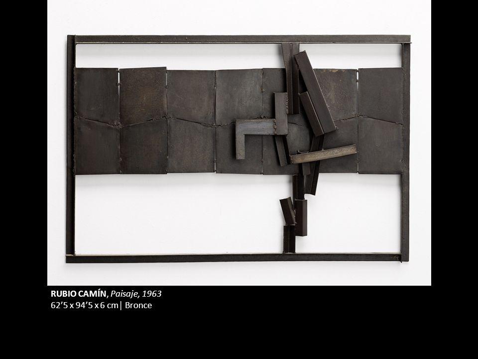 RUBIO CAMÍN, Paisaje, 1963 62'5 x 94'5 x 6 cm│ Bronce