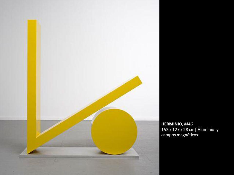HERMINIO, M46 153 x 127 x 28 cm│ Aluminio y campos magnéticos