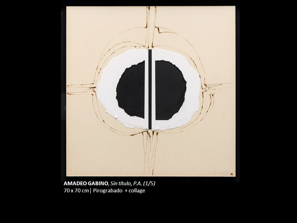 AMADEO GABINO, Sin título, P.A. (1/5)