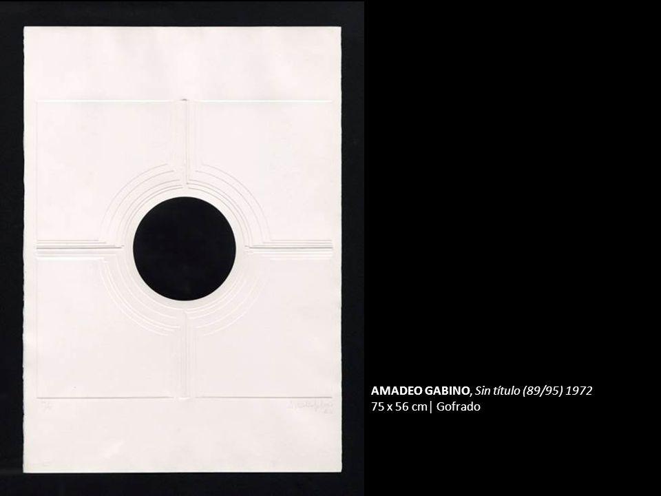 AMADEO GABINO, Sin título (89/95) 1972