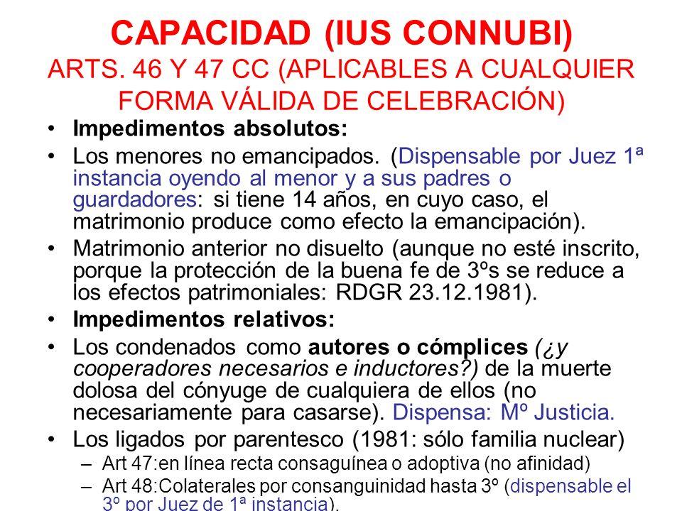 CAPACIDAD (IUS CONNUBI) ARTS