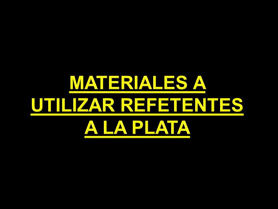 MATERIALES A UTILIZAR REFETENTES A LA PLATA